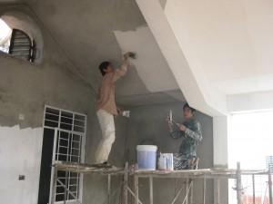 Thợ sơn bả matit tường nhà đẹp