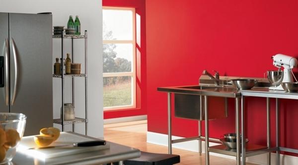 Một góc khác của nhà bếp trắng – đỏ.