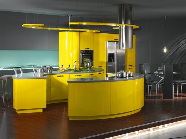 Ý tưởng cho nhà bếp màu vàng hiện đại