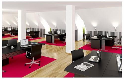 Văn Phòng làm việc thiết kế hài hòa phù hợp với màu sơn cho ánh sáng tốt, thoải mái dễ chịu